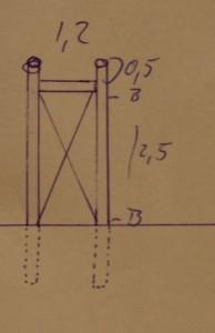 Zeichnung der Kranstütze